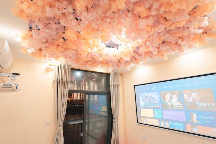 布满樱花的屋顶,浪漫满屋