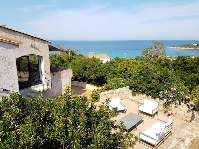 Appartement calme Marine de Favone vue Mer