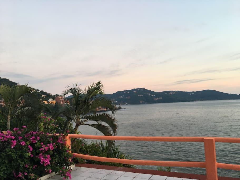 Vista a la bahía en Zihuatanejo