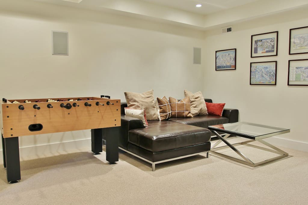 Family room in  Woodside Manor - Park City Old Town home