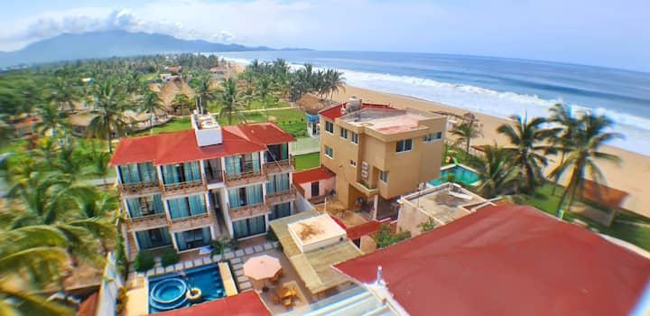 Hotel Casa Shula,  2 personas, a/a, playa, alberca