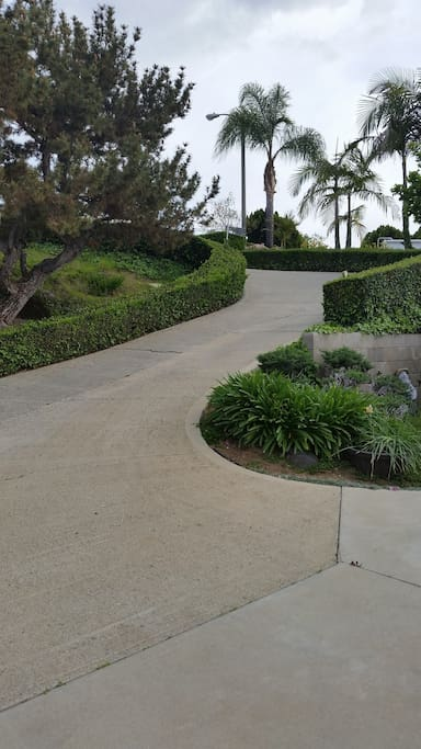 Steep driveway