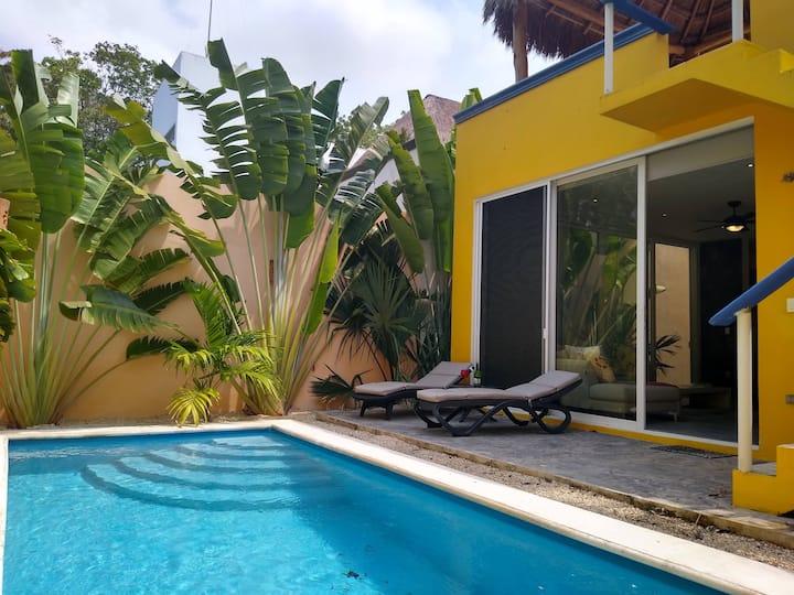 Riviera Maya Retreat+Pool+High Speed Internet+Bike