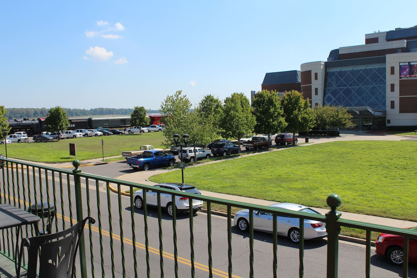 View of the Ohio River and Carson Center lawn