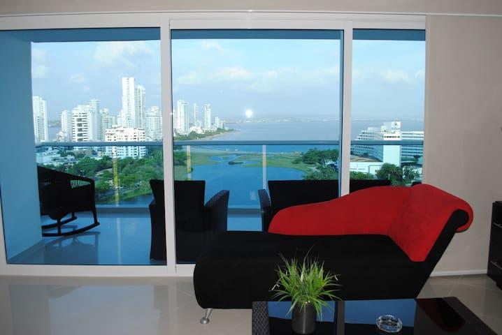 Hermoso apartamento, 15-02 con  vista al Laguito - Cartagena - Flat