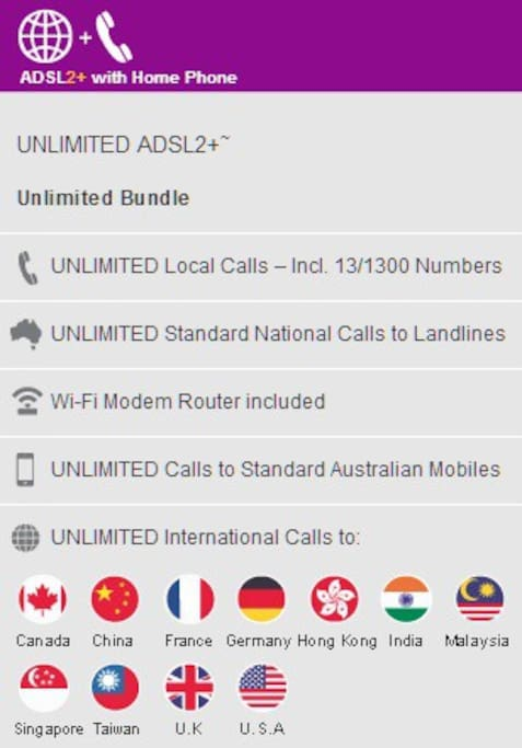 free calls to all local, national and some international phones