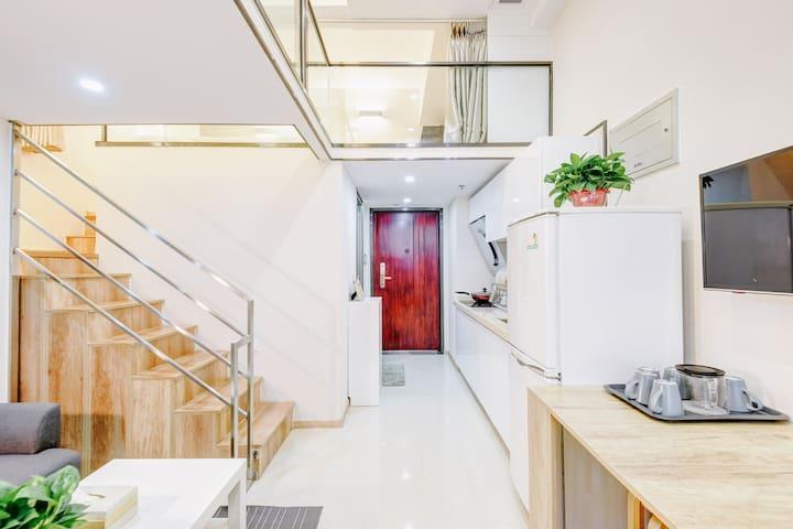 【绿叶·LOFT商务复式】地铁4号线50米的宜家风两居 - 北京市 - Apartament