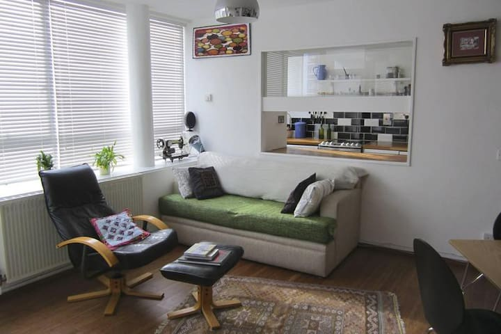 Bargain large studio with a balcony