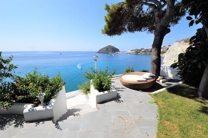 villa con piscina sul mare a sant'angelo ischia