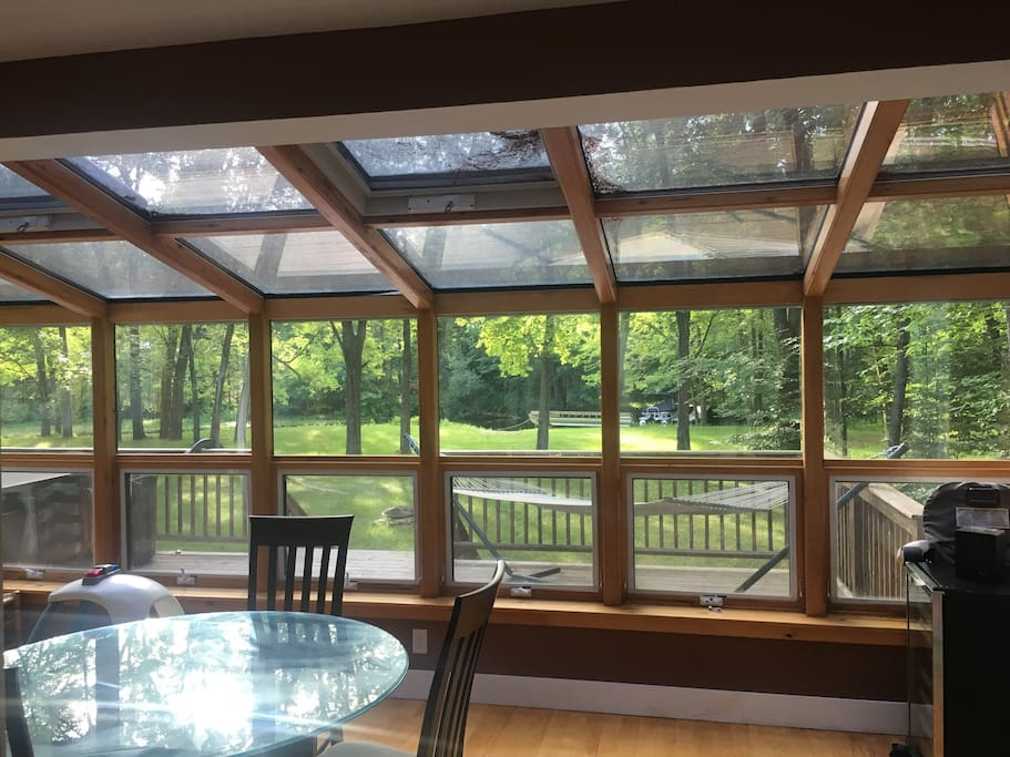 Crooked River views from sunroom