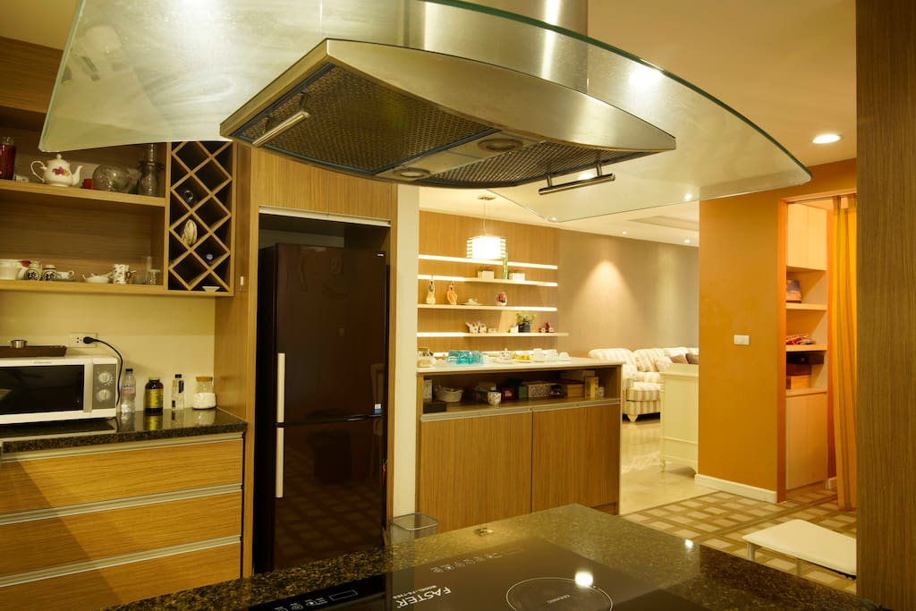 Fully-equipped spacious modern kitchen