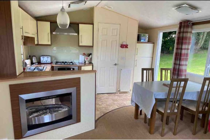 A convenient dinning area next to the kitchen.