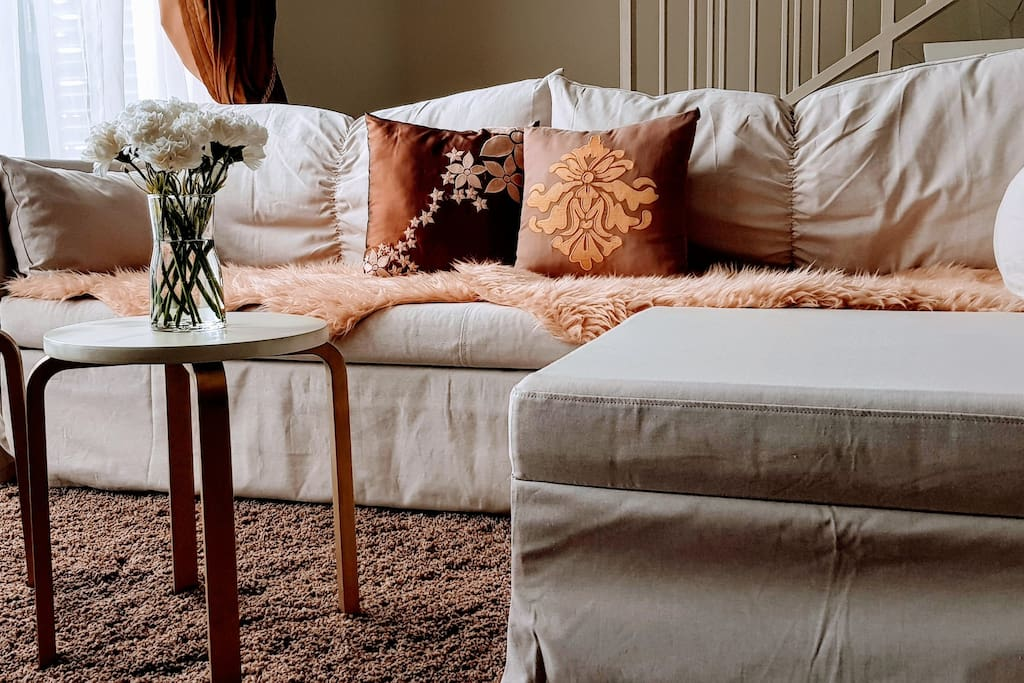 Cozy sofabed to enjoy Netflix shows in
