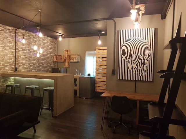 Loft Studio tipo industrial vanguardista, Céntrico