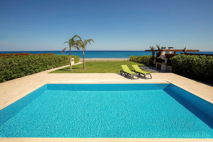 Poseidon Beachfront  Villa with Private Pool