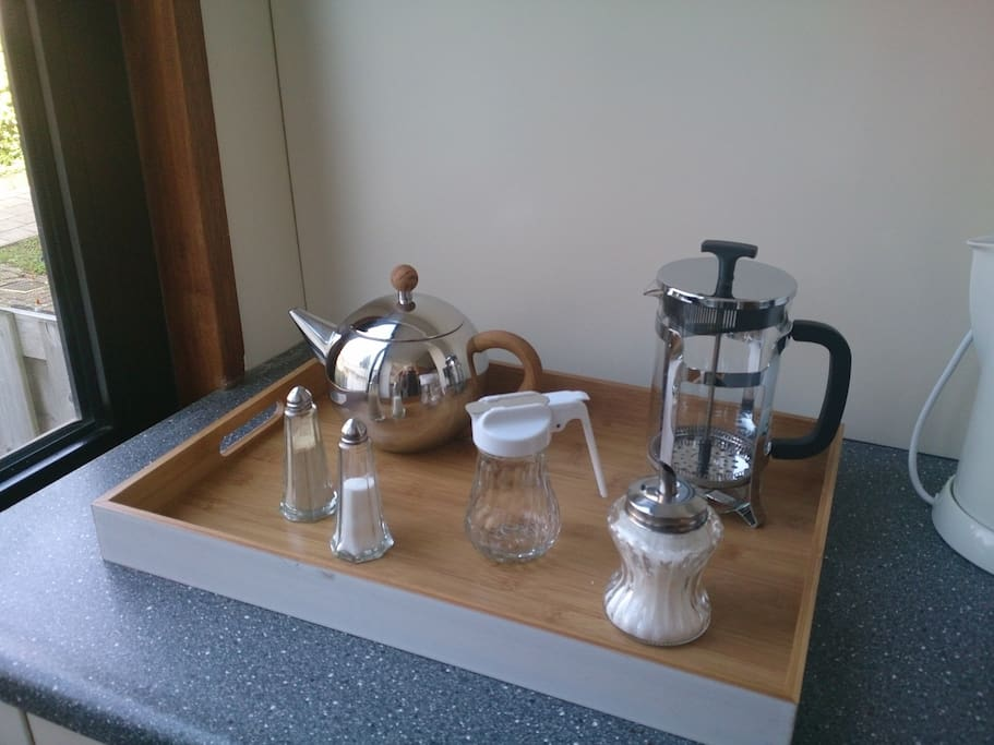Kitchen -  'coffee & tea corner - everything for coffee and tea, ready to  serve you...