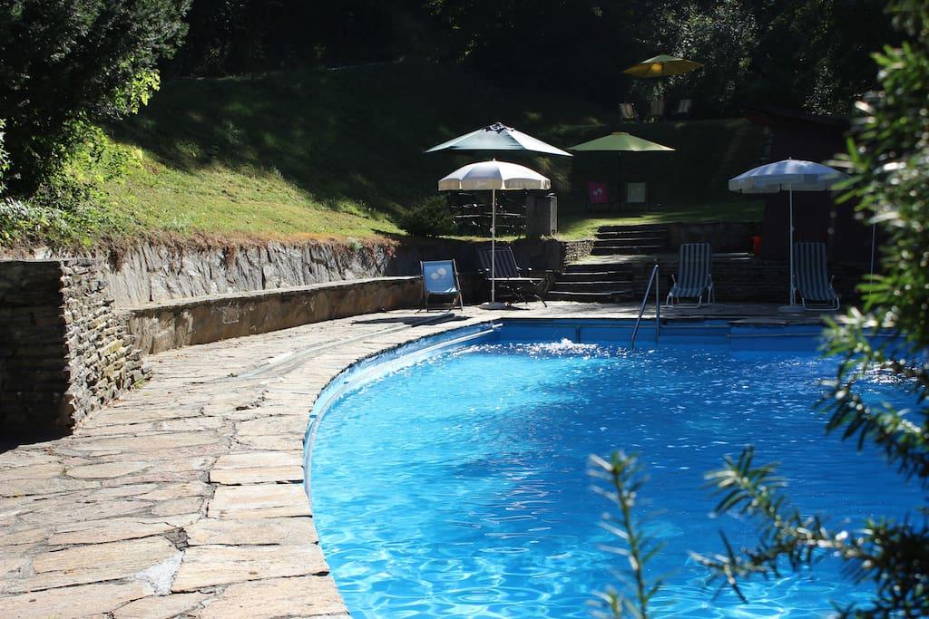 Das Schwimmbad in den Sommermonaten ein Traum!