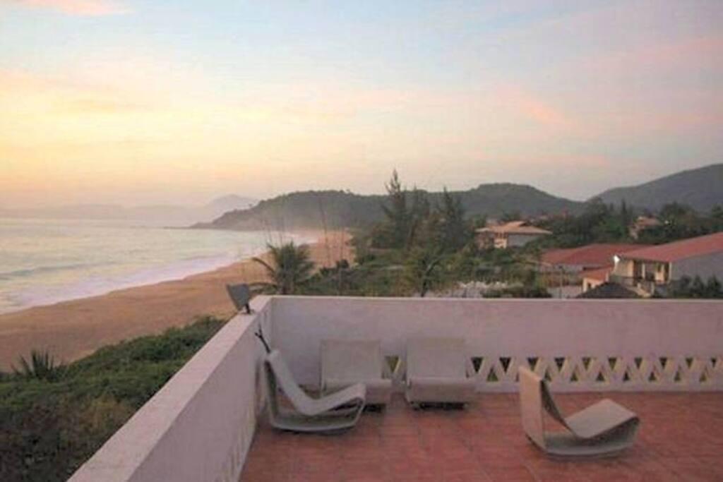 View from roof terrace. Vista do terraço.