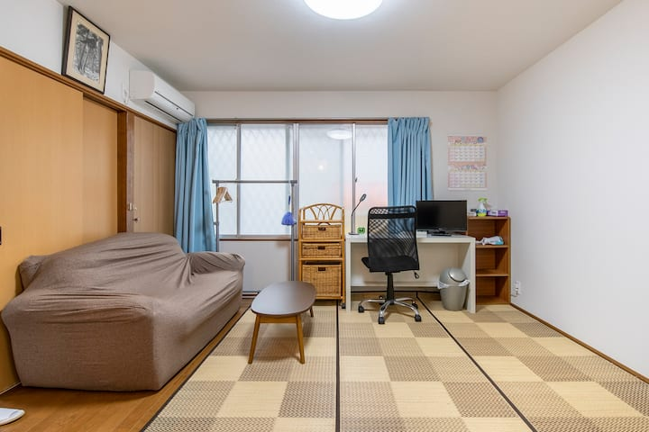 Cozy room 2 min walk from Sta! 30 min Shinjuku