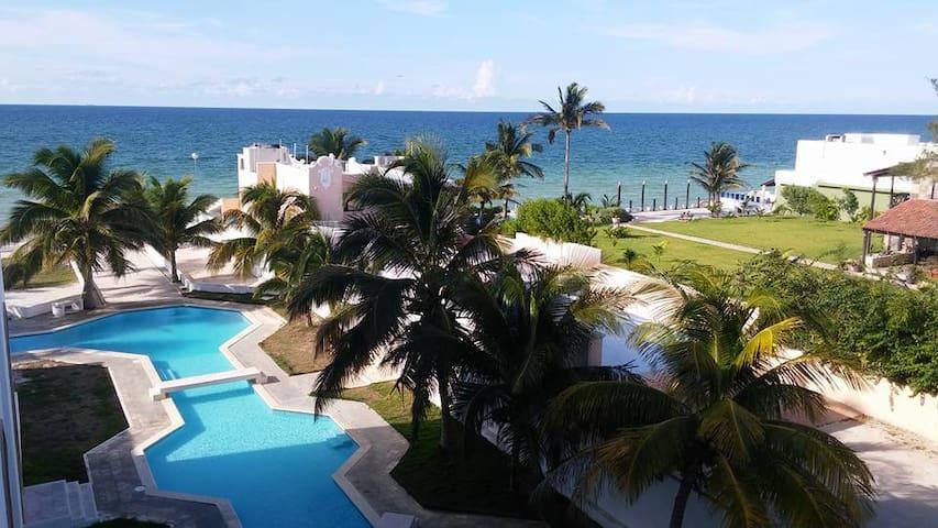 Oceanfront Vacation Condo - Chicxulub Puerto - Leilighet