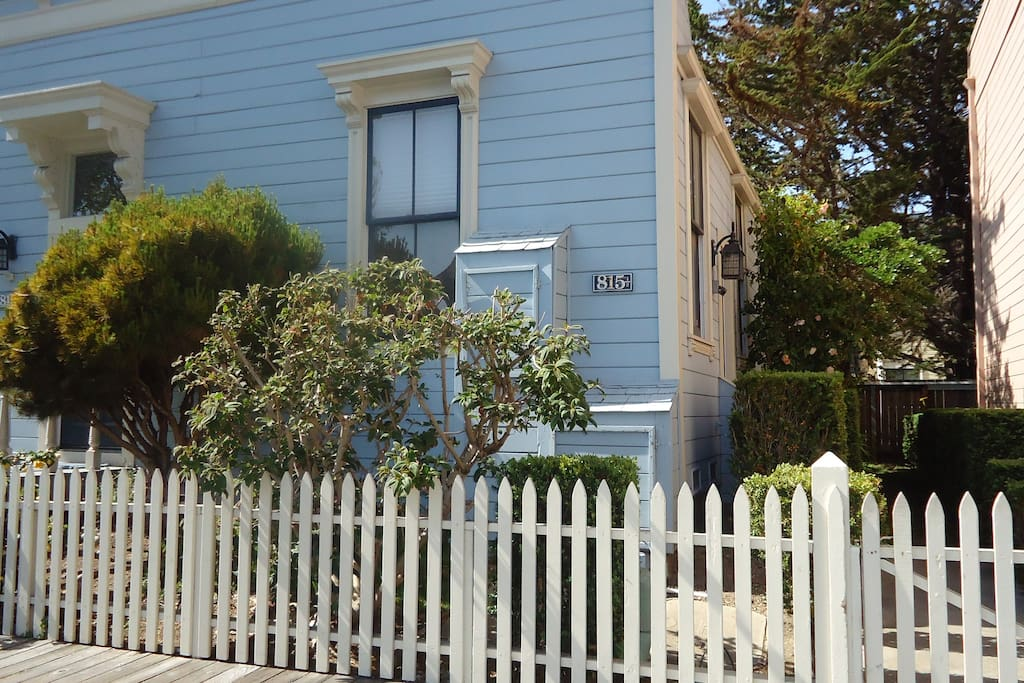 Front yard with picket fence