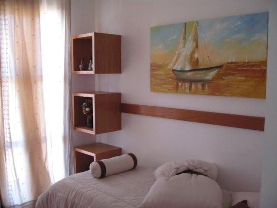 Master bedroom with suite