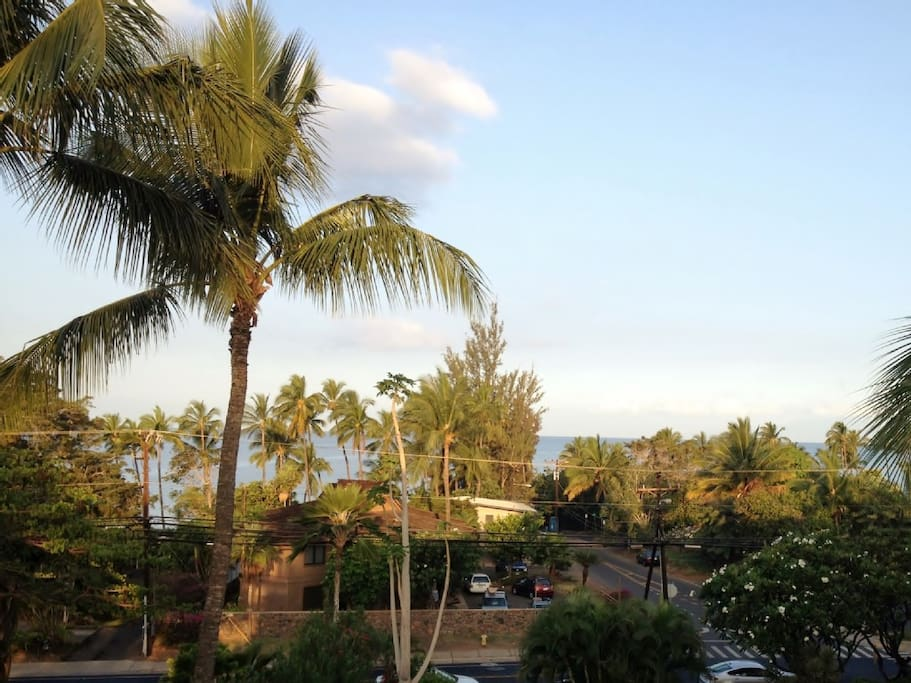 Beautiful ocean view right from our lanai! Anyone care for coffee or drinks?
