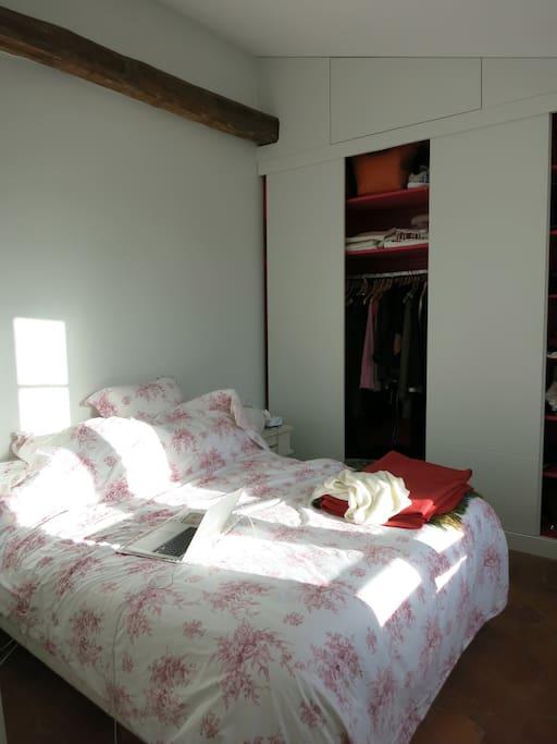 la chambre, exposée sud