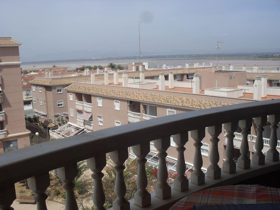 Vistas al Parque de las Salinas de Santa Pola desde el balcón :)
