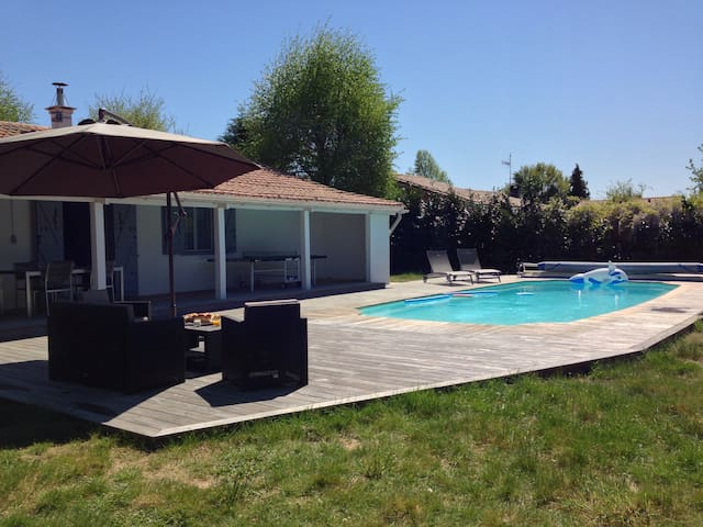 House with sw.pool for 8 guests - Sanguinet - Huis
