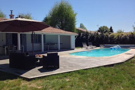 House with sw.pool for 8 guests - Sanguinet