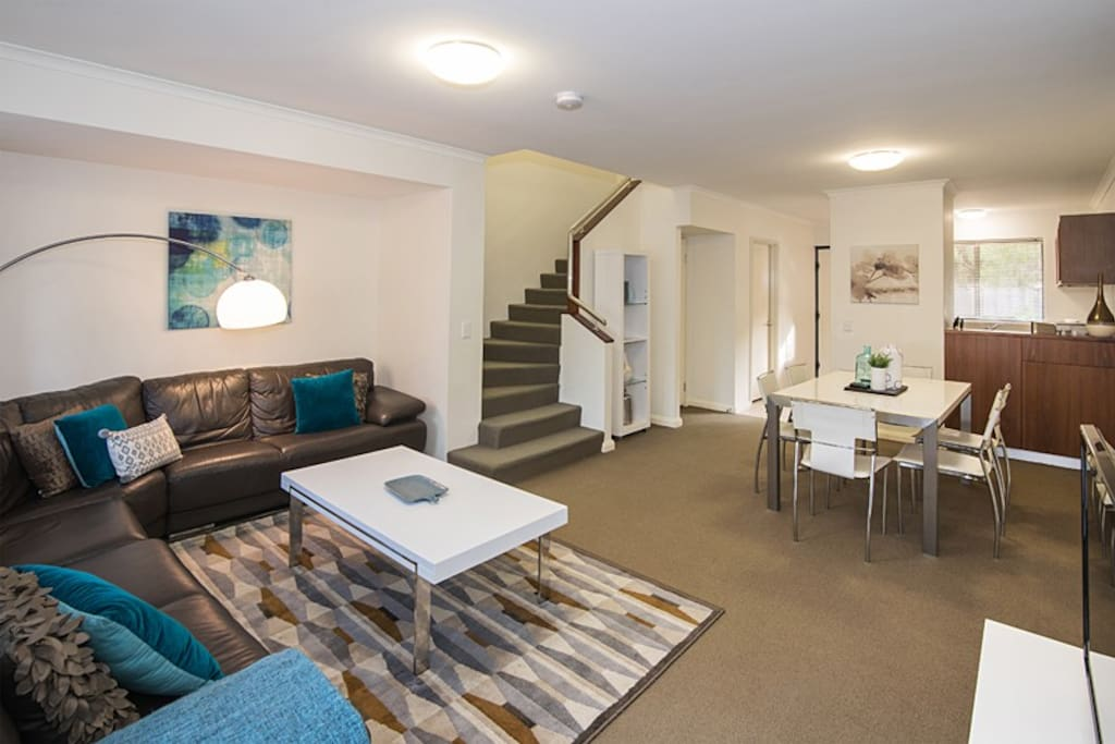 spacious open plan living