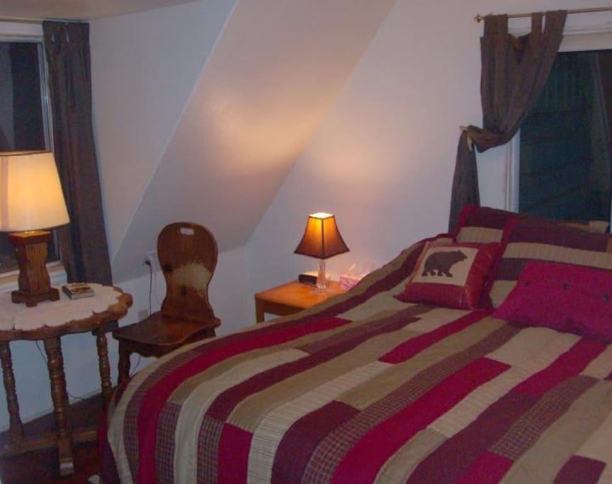 King Bedroom in the 3 bedroom Guest Cottage