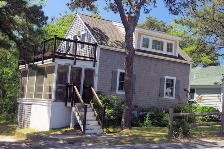 Walk to ocean beach from this remodeled cottage.