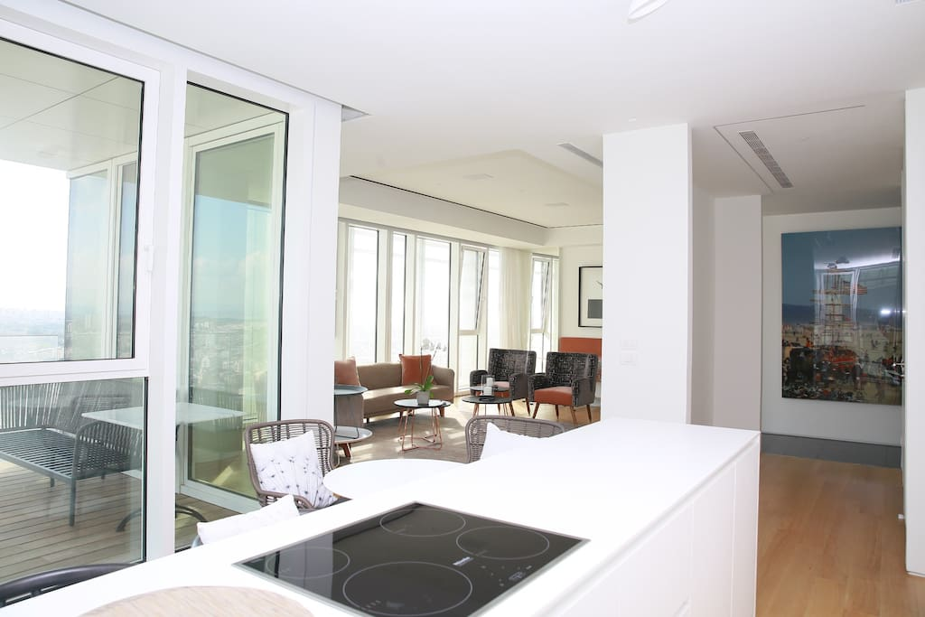 An overview of the spacious apartment