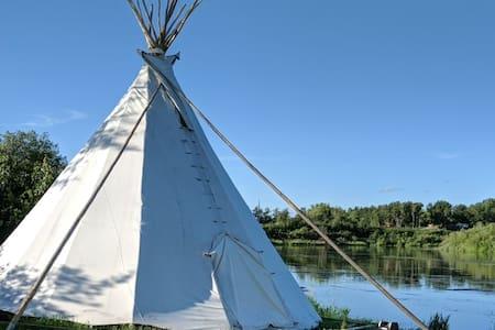 Tipi Glamping on Treaty Six Territory