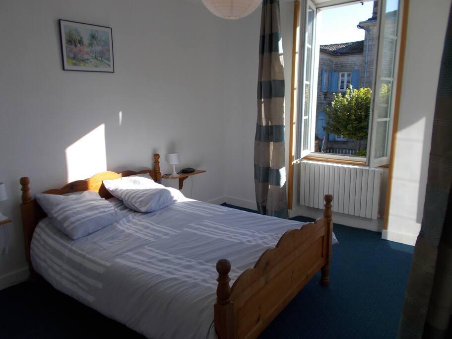 Comfortable double bedroom. (1)