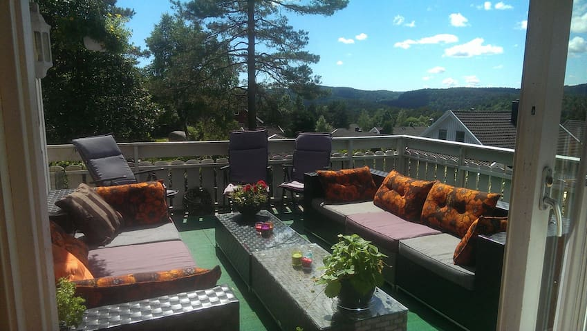 Room with a view. Nodeland, close to Kristiansand - Songdalen - Casa