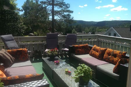 Room with a view. Nodeland, close to Kristiansand - Songdalen