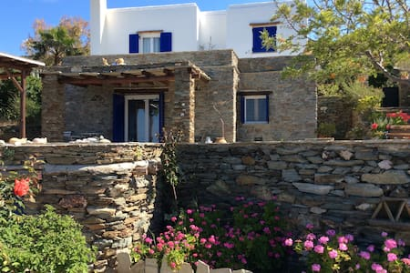 Villa Aggeliki Andros house with view