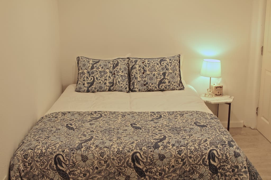 Private Suite with Queen bed, trundle bed, and queen air mattress