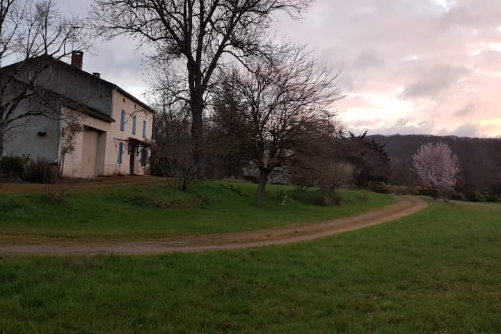 Maison en pleine nature, axe Cordes/Saint-Antonin