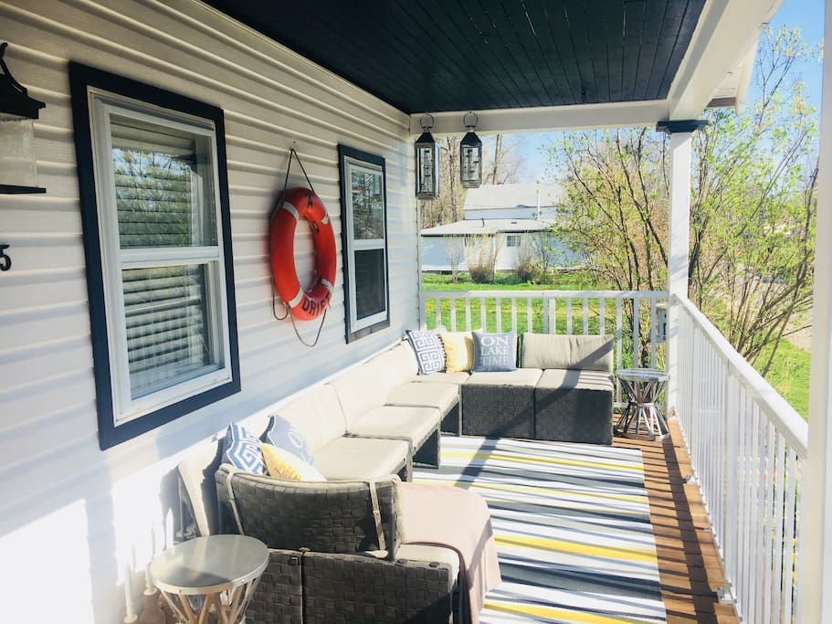 A great front porch for everyone to enjoy!