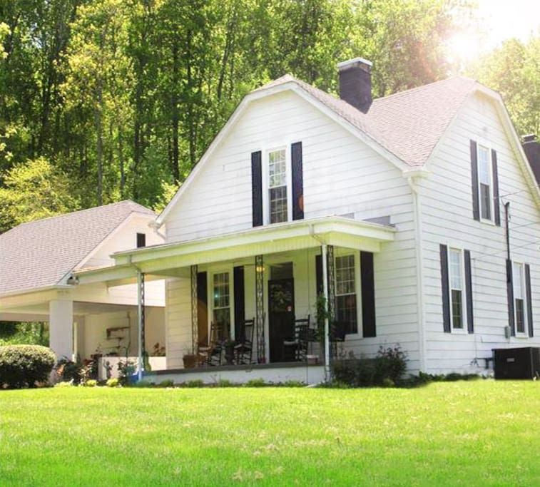 """Our guests will find our century old farmhouse at Allen Cove Farm to be the perfect """"home away from home"""".  The house has plenty of space and amenities to accommodate guests during their stay."""