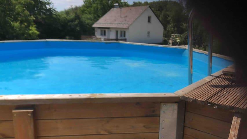 Unser Pool , genau das richtige an warmen Tagen