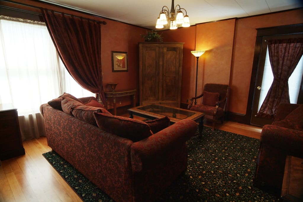 This is our lounge area on the second floor for our overnight guests