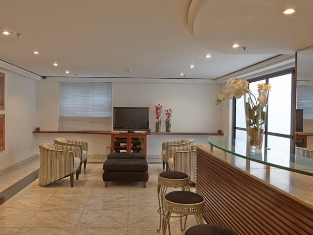 Sala de estar para uso comum dos hóspedes e convidados