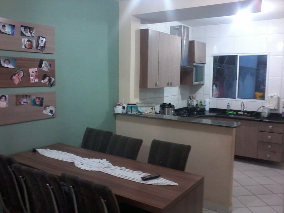 copa e cozinha da casa