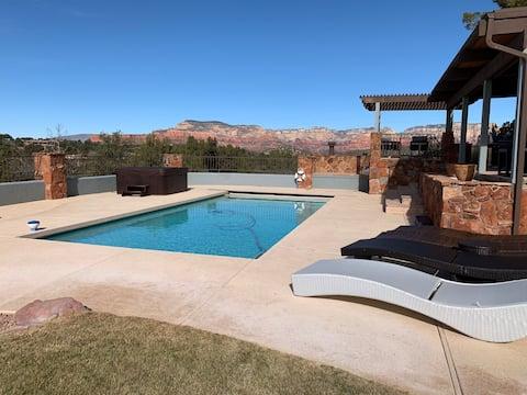 Sedona Sunset Ranch, Views! Heated Pool, Hot Tub