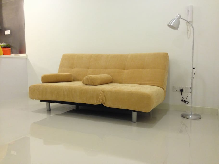 Comfortable sofa for reading for channel surfing.